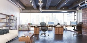 office with hardwood floors